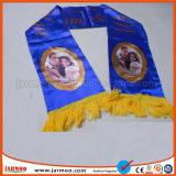熱い販売のカスタム普及したジャカードアクリルのチームスカーフ