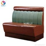 Table de restaurant canapé en cuir en bois Meubles de stand pour l'Hôtel Café