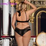 L'ODM accepter plus de la taille de la dentelle noir haute cou sous-vêtement sexy