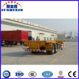 China 40FT zwei Skeleton Behälter-halb Schlussteil der Wellen-45t für Förderung