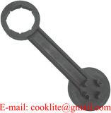 Tout-en-un seau en plastique de la clé de bonde de tambour d'une clé d'ouvreur de couvercle