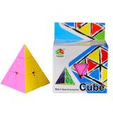Os brinquedos das crianças Stickerless Puzzle Pirâmide Fidget Cubos mágicos