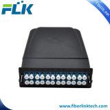 MPO/MTP Modulaire Cassette van de Oplossing HD van het Netwerk van de vezel de Optische met Fanout van de Kabel van de Doorbraak mpo/mtp-LC het Koord van het Flard