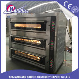 De in het groot Oven van het Dek van de Pizza van de Apparatuur van de Machine van het Baksel voor Bakkerij met 3decks 6trays