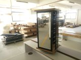 Recyled&Metal madera Soporte de cristal giratoria