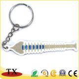 Keyring suave del PVC del encadenamiento dominante del PVC de la dimensión de una variable del hueso de pescados