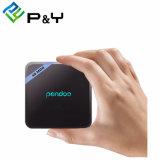 Roku IPTV Pendoo X8 소형 S905W 인조 인간 7.1 텔레비젼 상자