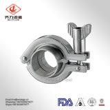 Medidas sanitarias de acero inoxidable SS 304/316L Tri-Clamp de alta presión de montaje de la abrazadera del tubo de acero inoxidable