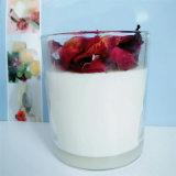 Vela perfumada del tarro del vidrio de lujo de Rometic con la tapa de madera para el día de Valentin