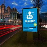 Lightbox 광고 회전 대 널 Mupi를 자전하는 옥외 두루말기 표시