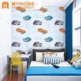 Pinturas murais impermeáveis do papel de parede do PVC do projeto interior, papéis de parede para o quarto dos miúdos