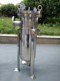 Het industriële Roestvrij staal poetste de Sanitaire ZijFilter van de Zak van de Ingang voor de Commerciële Reiniging van het Water op