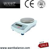 equilibrios de precisión electrónicos de la balanza de 3kg 0.1g con RS232