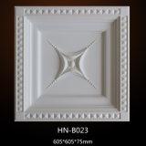 Полиуретан декоративный потолок на кухне плитки PU потолок роз Hn-B023