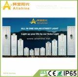 batteria di litio 120W tutta in un indicatore luminoso di via solare Integrated del LED con il sensore di PIR