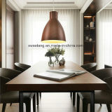 Lámpara colgante lámpara de araña de la luz de la decoración con madera de color para Restaurante