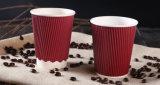 Bebida caliente de papel desechables de doble pared tazas de café