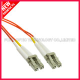 Om2 LC-LC Simplex Fibra óptica Patch Cord com PVC Orange Jacket