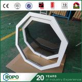 Janelas de toldo de PVC de última geração de alta qualidade com cor de madeira
