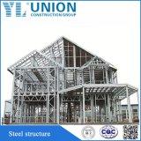 La luz del modelo de estructura de acero prefabricados para la construcción de casa viva