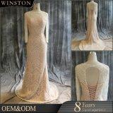 Großhandelsform-Entwurfs-moslemisches langes Hinterhochzeits-Kleid