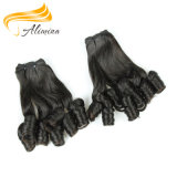 熱い販売のインドの巻き毛のRemyのバージンの大きさの毛の織り方