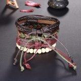 Braided Handmade registrabili di modo '' credono '' il braccialetto di cuoio della corda