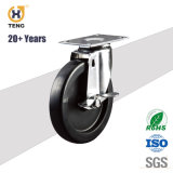 Высокая температура сопротивление 4 дюйма Swive круглый стержень TPR самоустанавливающегося колеса