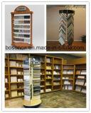 Base de madera Mesa 40 piezas de la muestra de granito negro estantería Expositor gancho metálico para las baldosas de cerámica