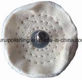 """roue de polissage de polissage montée de coton du point 3 """" X1/2 """" pour le métal"""