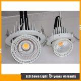 luz rotativa del cardán de la MAZORCA LED del CREE 40W para la iluminación de los departamentos