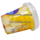 Máquina plástica de relleno del casquillo del lacre del papel de aluminio de la taza