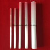 高い純度の乳白色の白い水晶ガラスの管