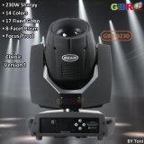 Gbr-B230 de 230W Sharpy 7r cabezal movible de haz de luz