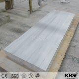 L'épaisseur 25mm matériaux décoratifs en pierre blanche de Surface solide