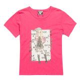 숙녀는 인쇄한 티 셔츠, 티 셔츠를 인쇄하는 최신 이동을 모양 짓는다