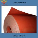 Tissu enduit de silicone de matériau ignifuge en verre de fibre