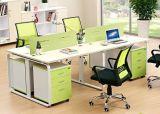 Stazione di lavoro lineare della scrivania, Tabella dell'ufficio del rivestimento della polvere dei Acciaio-Piedini