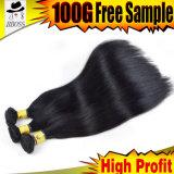 Естественный прямой бразильский уток человеческих волос черноты двигателя