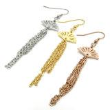 La forma especial de joyería de moda mujer Sliver aretes de oro