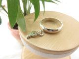 めっきされる主形の吊り下げ式の銀製の白い金女性のためのリングを真鍮の銅とめっきする