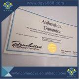 Водяной знак бумаги горячей штамповки голограмма сертификат