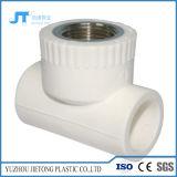Conexão do tubo de plástico PPR para fornecimento de água quente e frio