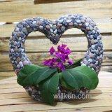Crisol de flor creativo de la dimensión de una variable del corazón de la magnesia para la decoración de escritorio del hogar del jardín