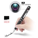Mini crayon lecteur visuel 2K/sonore 32GB d'enregistrement d'appareil-photo activé par mouvement caché par HD