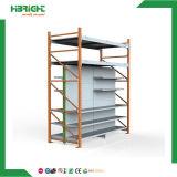 Efectivo - y - llevar los estantes integrados con los estantes superiores del almacén