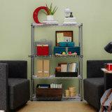 Asamblea del metal ajustable Muebles alambre libro Estantería Estante con Ruedas