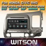Witson WindowsのHonda Civic Rhdの無線のステレオDVDプレイヤー
