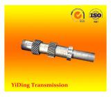 Eje helicoidal doble cilíndrico de la rueda de engranaje usado en industria de las energías eólicas