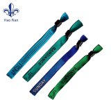 Wristbands modificados para requisitos particulares baratos de la tela del festival del poliester